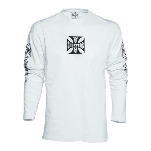 T-Shirt WCC  Maltese Cross Manga Comprida Branca