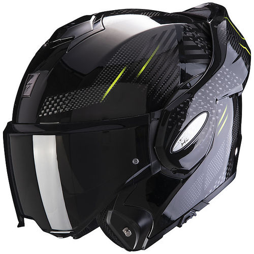 Capacete Scorpion Exo-Tech Pulse Preto / Verde